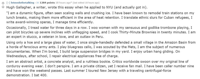 6 Weirdest, Worst & Memorable College Admissions Essays From