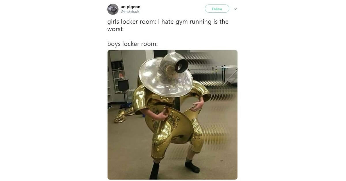In gym get random boner in boys locker room cheezburger funny