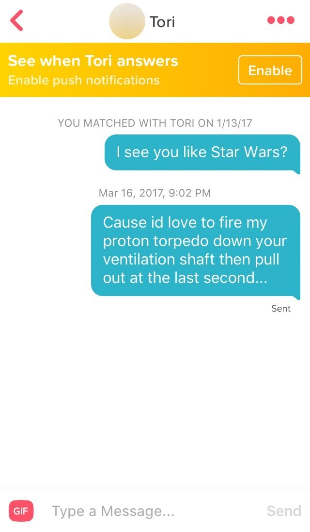 Tinder Enthusiast and 13 Hilarious Pickup Lines